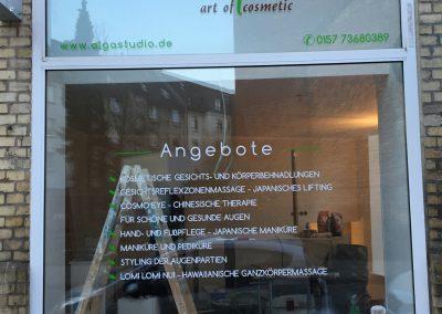 Fensterfolienbeschriftung